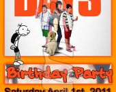 Diary of a Wimpy Kid: Dog Days Ticket Style Personalized Party Invitations