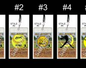Softball Set of 12 VIP Party Invitation Passes or Party Favors