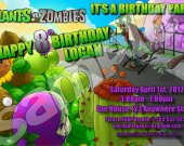 Plants vs. Zombies 4x6 Personalized Birthday Party Invitations