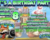 Skylanders Cloud Patrol 4x6 Personalized Birthday Party Invitations