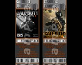 Call of Duty Black Ops 2 Ticket Style Personalized Party Invitations