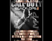 Call of Duty Black Ops 2 Personalized Thank You Cards