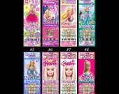 Barbie Ticket Style Personalized Party Invitations
