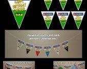 Green Ninjago 6-Triangle Pennant Banner