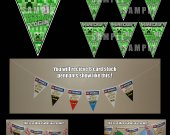 Minecraft Creeper 6 Triangle Pennant Banner