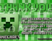 Minecraft Personalized Thank You Cards