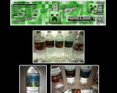 Minecraft Set of 15 Water Bottle Labels - Make Great Party Favors
