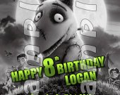 Frankenweenie 4x6 Personalized Birthday Party Invitations