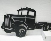 60™s Kenworth Semi Truck Metal Wall Art Silhouette