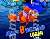Finding Nemo with Glasses 4x6 Personalized Birthday Party Invitations