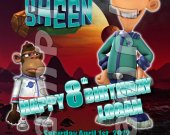 Planet Sheen 4x6 Personalized Birthday Party Invitations
