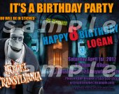 Hotel Transylvania 4x6 Personalized Birthday Party Invitations