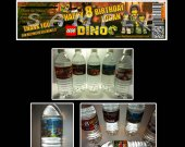 Lego Dino Set of 15 Water Bottle Labels - Make Great Party Favors