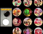 Wreck It Ralph Set of 12 Pinback Buttons - Make Great Party Favors - Set 2