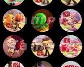 Wreck-It Ralph Set of 12 2.5-Inch Round Personalized Stickers or Cupcake Toppers Page 2