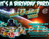 Angry Birds Star Wars 4x6 Personalized Birthday Party Invitations - Style 1