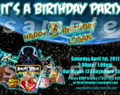 Angry Birds Star Wars 4x6 Personalized Birthday Party Invitations - Style 2