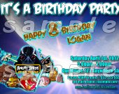 Angry Birds Star Wars 4x6 Personalized Birthday Party Invitations - Style 3