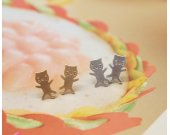 cute and unique tiny kitty cat post earrings( gold /silver)