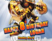 Skylanders Giants Swarm 4x6 Personalized Birthday Party Invitations