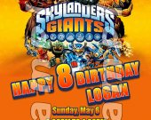 Skylanders Giants 4x6 Personalized Birthday Party Invitations