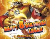Skylanders Giants Bouncer 4x6 Personalized Birthday Party Invitations