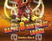 Skylanders Giants Hot Dog 4x6 Personalized Birthday Party Invitations