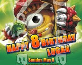 Skylanders Giants Shroomboom 4x6 Personalized Birthday Party Invitations