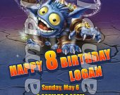 Skylanders Giants Pop Fizz 4x6 Personalized Birthday Party Invitations