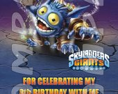 Skylanders Giants Pop Fizz Personalized Thank You Cards