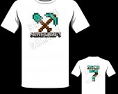 Minecraft Shovel and Pickaxe Personalized T-Shirt