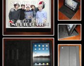 One Direction Leather iPad Case - Fits iPad 2, 3 and 4 - with Santa Hats