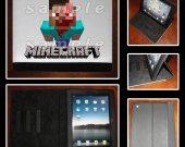Minecraft Zombie Steve Leather iPad Case - Fits iPad 2, 3 and 4