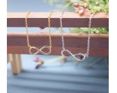Infinity necklace in gold / silver