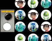 Monsters, Inc Set of 12 Pinback Buttons - Make Great Party Favors - Set 1