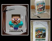 Minecraft Steve Mini Drawstring Sport Pack - Great Party Favor Bags