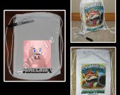 Minecraft Pig Mini Drawstring Sport Pack - Great Party Favor Bags