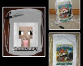 Minecraft Sheep Mini Drawstring Sport Pack - Great Party Favor Bags