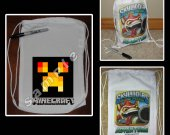 Minecraft Fire Creeper Mini Drawstring Sport Pack - Great Party Favors