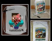 Minecraft Zombie Steve Mini Drawstring Sport Pack - Great Party Favors