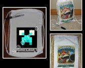 Minecraft Water Creeper Mini Drawstring Sport Pack - Great Party Favors