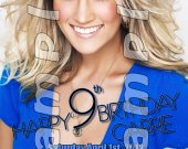 Carrie Underwood Personalized 4x6 Birthday Party Invitations - Style 5