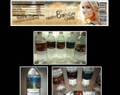 Carrie Underwood Set of 15 Water Bottle Labels - Make Great Party Favors - Style 2