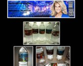 Carrie Underwood Set of 15 Water Bottle Labels - Make Great Party Favors - Style 5