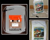 Minecraft Face Mini Drawstring Sport Pack - Style 1