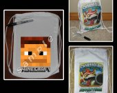 Minecraft Face Mini Drawstring Sport Pack - Style 2