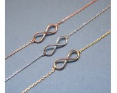 Infinity Bracelet in gold / silver / pink gold