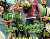 Epic Personalized 4x6 Birthday Party Invitations