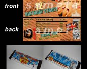 One Direction Set of 12 Personalized Candy Bar Wrappers Party Favors-Style 10