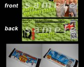 One Direction Set of 12 Personalized Candy Bar Wrappers Party Favors-Style 12